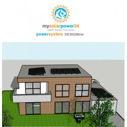 PV PowerSystem DESIGNline Komplett-Bausatz für Flachdächer