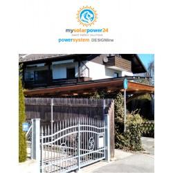 PV PowerSystem DESIGNline Komplett-Bausatz für Garagen mit Flachdach