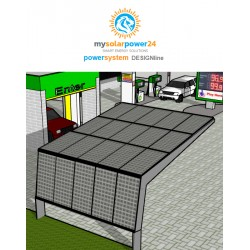 Solarcarport for two Komplett-Bausatz