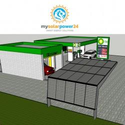 Solar-Carport Komplett-Bausatz