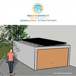 Powersystem ECOline Komplett-Bausatz für Garagen mit Flachdach