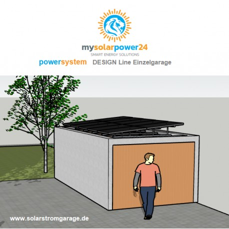 Powersystem DESIGNline Komplett-Bausatz für Garagen mit Flachdach