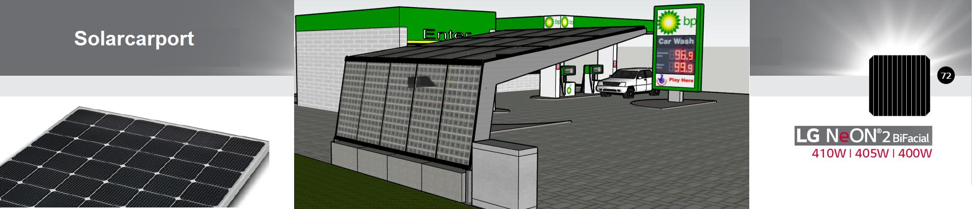 Solarcarport mit Ladestation
