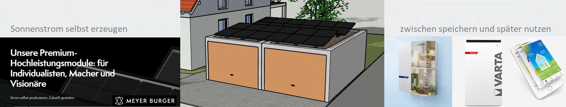 PowerSystem für Doppelgarage mit VARTA Stromspeicher