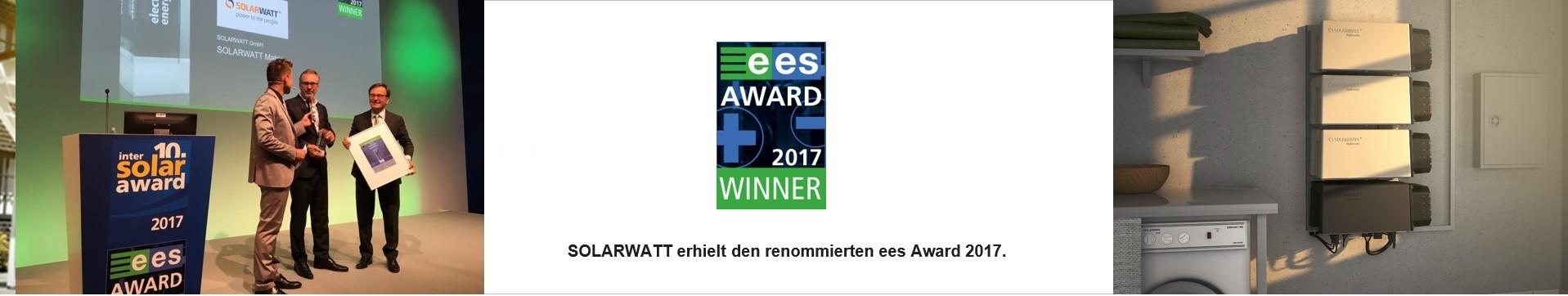 Solarwatt gewinnt ees AWARD 2017