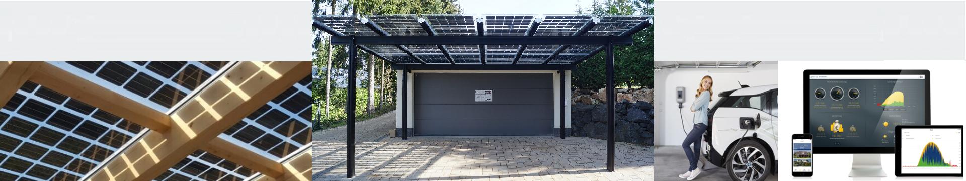 PowerSystem für Stahlcarport mit KEBA-Ladstation und Solar-Log